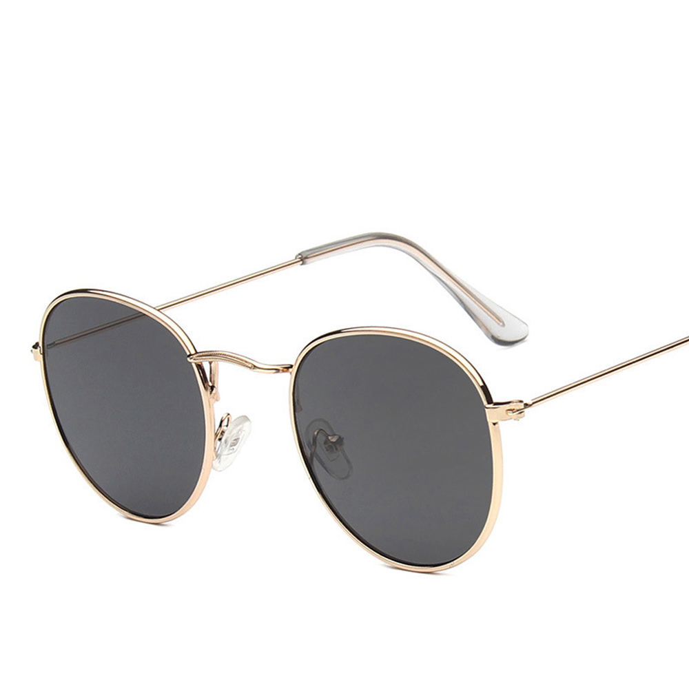 XaYbZc 2020 Classic Small Frame Round Sunglasses Women/Men Brand Designer Alloy Mirror Sun Glasses Vintage Modis Oculos
