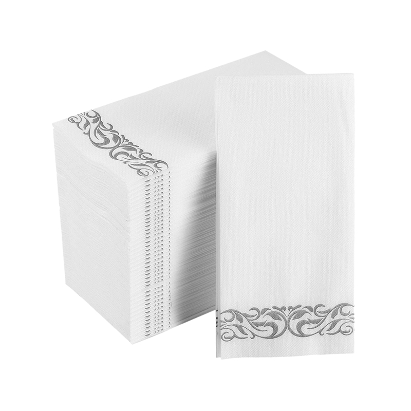 250 PCS Disposable Hand Paper Soft And Absorbent Linen-Feel Hand Napkins For Kitchen, Parties, Weddings (50PCS/Pack)