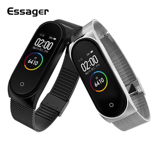Essager Plating Metal Strap For Xiaomi Mi Band 4 3 Wristband Wrist Bracelet For Miband 4 3 Band4 Band3 Belt Correa Accessories(China)