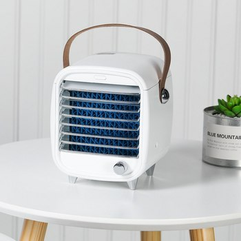 portable  Air Cooler Fan Portable Digital Air Conditioner Humidifier Space Easy Cool Purifies Air Cooling Fan for Home Office evaporative air conditioner air cooler fan indoor portable cool humidifier battery operated with quiet 2 speed air cooling fan