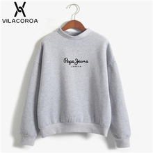 27 Color Letter Print Winter Women Hoodies Round Neck Long S