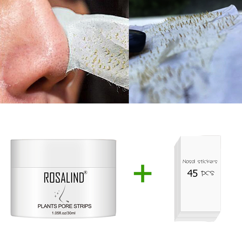 ROSALIND Face Masks From Black Dots Stripes Nose Pore Blackhead Remove Wrinkle Acne Nose Tearing Mask For The Face Cream Care
