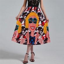 Falda plisada con dibujo bohemio de pavo real para mujer, falda elástica de cintura alta, Estilo Vintage, para playa, gran oferta, 2020