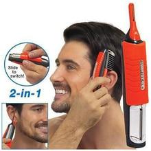 Двойные ножи для мужчин, триммер для носа, миниатюрный частный триммер для волос с бородой, бритва, ручка для удаления красоты