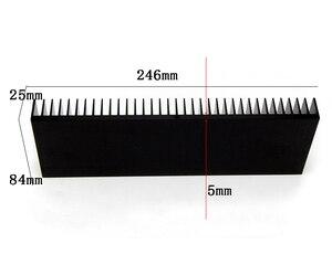 Image 2 - DIY برودة مبادل حراري من الألومنيوم مصبغة شكل المبرد الحرارة بالوعة رقاقة 246*84*25 مللي متر hd1969 IC الطاقة الترانزستور