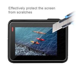 Image 5 - עבור GoPro 7 אבזר ערכת הגנת מסגרת עדשה + LCD מסך מזג זכוכית סרט עבור ללכת פרו גיבור 5 6 7 פעולה מצלמה