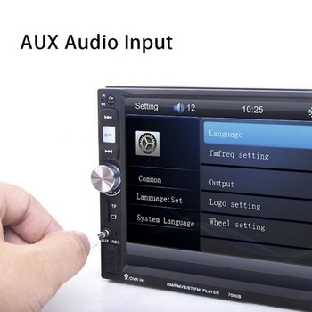 7 Inch 7080B Touch Screen 2 Din Car Radio In-Line Auto Camera Player Stereo Bluetooth USB SD MP3 Rear View Camera autoradio image