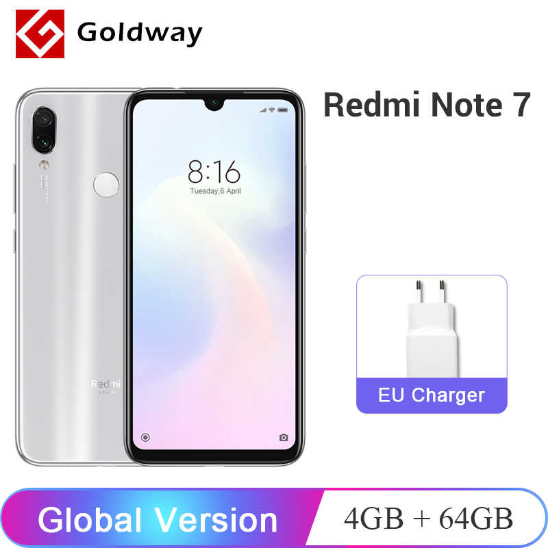 "Global Version Xiaomi Redmi Note 7 4GB RAM 64GB ROM Mobile Phone Snapdragon 660 Octa Core 6.3"" 48MP Dual Camera 4000mAh FCC CE"