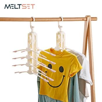 Magic Clothes Hanger Foldable Rotating Drying Rack Multifunction Plastic For Wardrobe Closet Storage Organizer