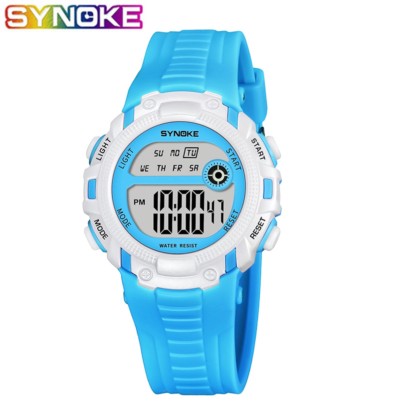 SYNOKE Kids Digital Watches Sports Boys LED Watch Watproof Stop Watch Alarm Clock Children Wristwatches Girls Boys Gifts