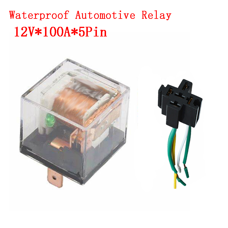 SPDT CAR Relay DC 12V 40A 5PIN with Socket Waterproof Auto Relay US Stock