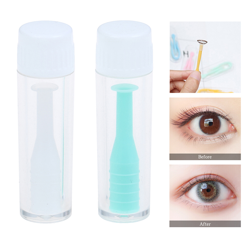 Solid Silica Gel Length 3.3cm Lenses Small Suction Cups Stick For Mini Contact Lens Useful Remove Clamps Contact Lens Extractor