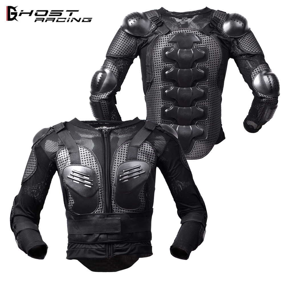 GHOST RACING Motorcycle Armor Jacket Moto Body Protection Motocross Downhill Protective Gear Armor Chest Back Protector Guard