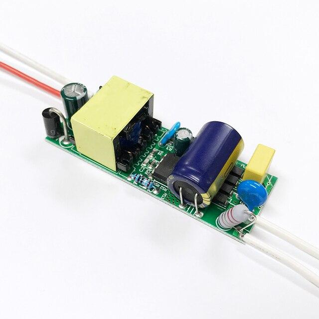 Livraison gratuite 5 pcs/lot 6-10x3w LED conducteur entrée AC85-265V alimentation 550mA éclairage transformateurs 18 w 21 w 24 w 27 w 30 w lampe à LED