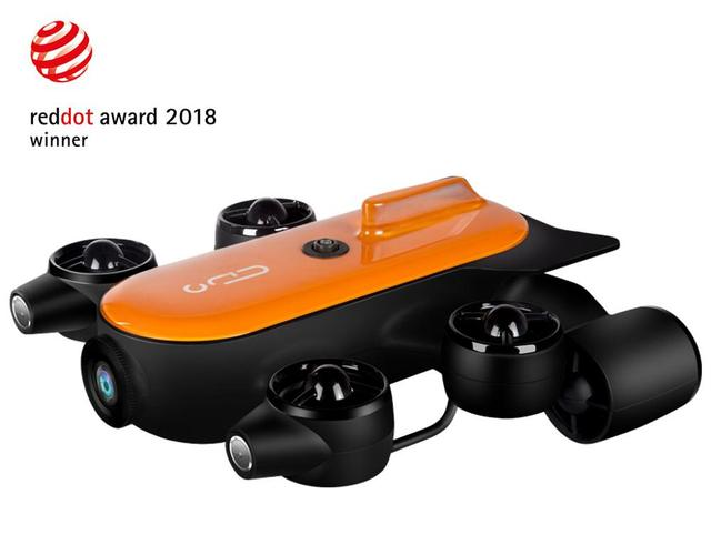 Geneinno Titan Underwater Drone robot Undersea detection 160° wide-angle FOV 360° movement 4K camera