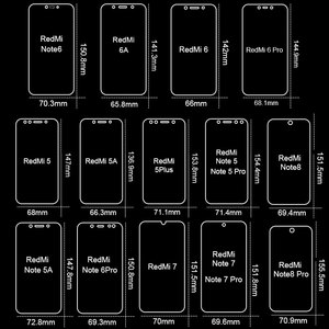 Image 5 - 3Pcs Full Cover Tempered Glass For Xiaomi Redmi Note 7 9s 5 8 Pro 8T 9 Pro Max Screen Protector For Redmi 5 Plus 6A Glass Film