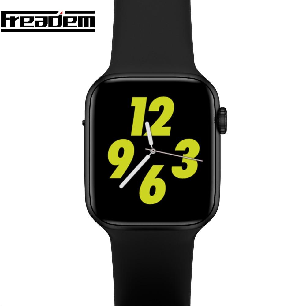 4 Uds iwo8 lite 44mm reloj Inteligente Android ecg ppg de frecuencia cardíaca Inteligente reloj Bluetooth Bracelect pk iwo 8