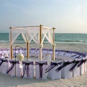 Image 4 - 10m 48cm Bride Party Decor Wedding Organza Tulle Fabric Sheer Swag Backdrop Curtain Rustic Wedding Decoration Party Event
