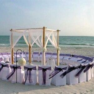 Image 4 - 10m 48cm gelin parti dekor düğün organze tül kumaş şeffaf yağma zemin perde rustik düğün dekorasyon parti olay