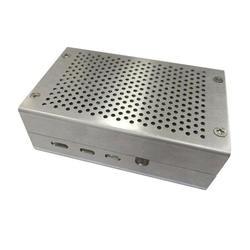 Корпус коробки электронный выхлопное отверстие охлаждения против царапин алюминиевый сплав внешний прочный защитный чехол для Raspberry Pi 4