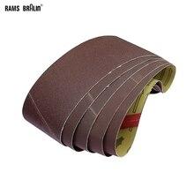 """10 peças 610*100mm abrasivo lixando correias 24 """"* 4"""" p60 p600 para a máquina de lixar macia de madeira do metal 9400"""