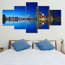 Rotterdam Holland Cityscape Poster 5 Panel Frame Canvas Painting Wall Art Picture Print Living Room Home Decor бордюр gracia ceramica rotterdam green 01 50x7 5