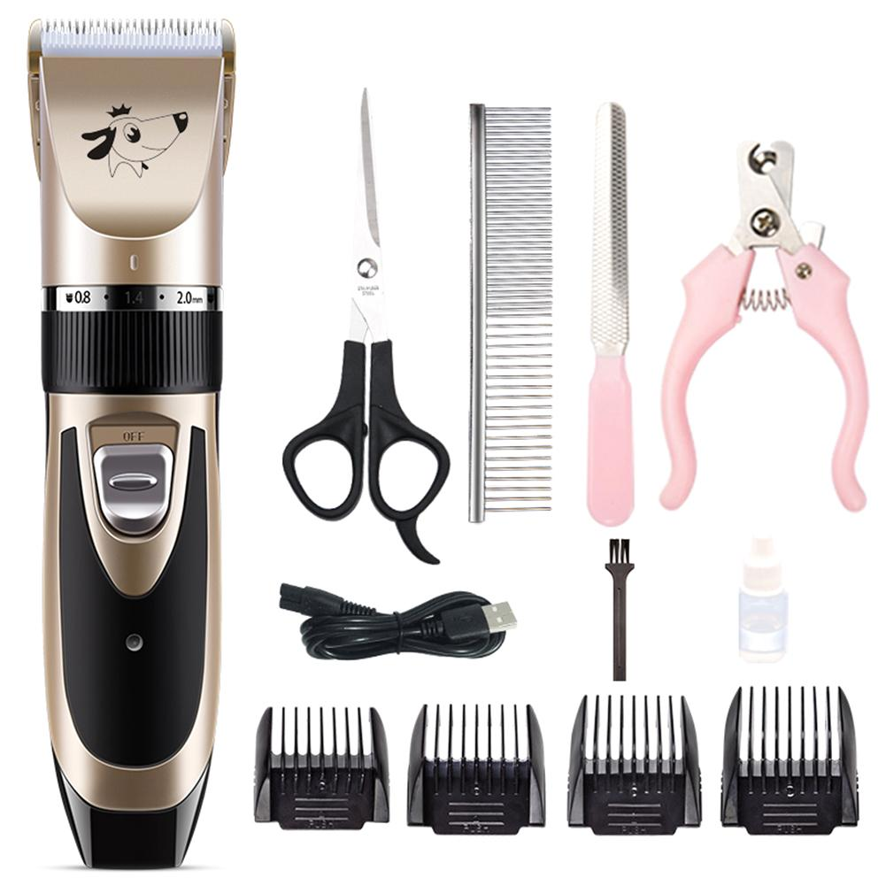 New Electrical Pet Hair Trimmer Rechargeable Low-noise Cat Dog Hair Clipper Kit Remover Cutter Grooming Pets Accessories Haircut