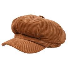 Women Ladies Cap Hat Octagonal Baker Peaked Beret Driving Hats Fashion Vintage Winter Fall Corduroy Causal Caps