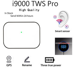TWS Pro Wireless Bluetooth Headset i9000 Wireless headset  High quality Bluetooth headset Good Sounds