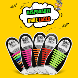 (GIFT ONLY, PLEASE DON'T ORDER) Silicone Shoelaces Elastic Shoe Laces Special No Tie Shoelace for Men Women