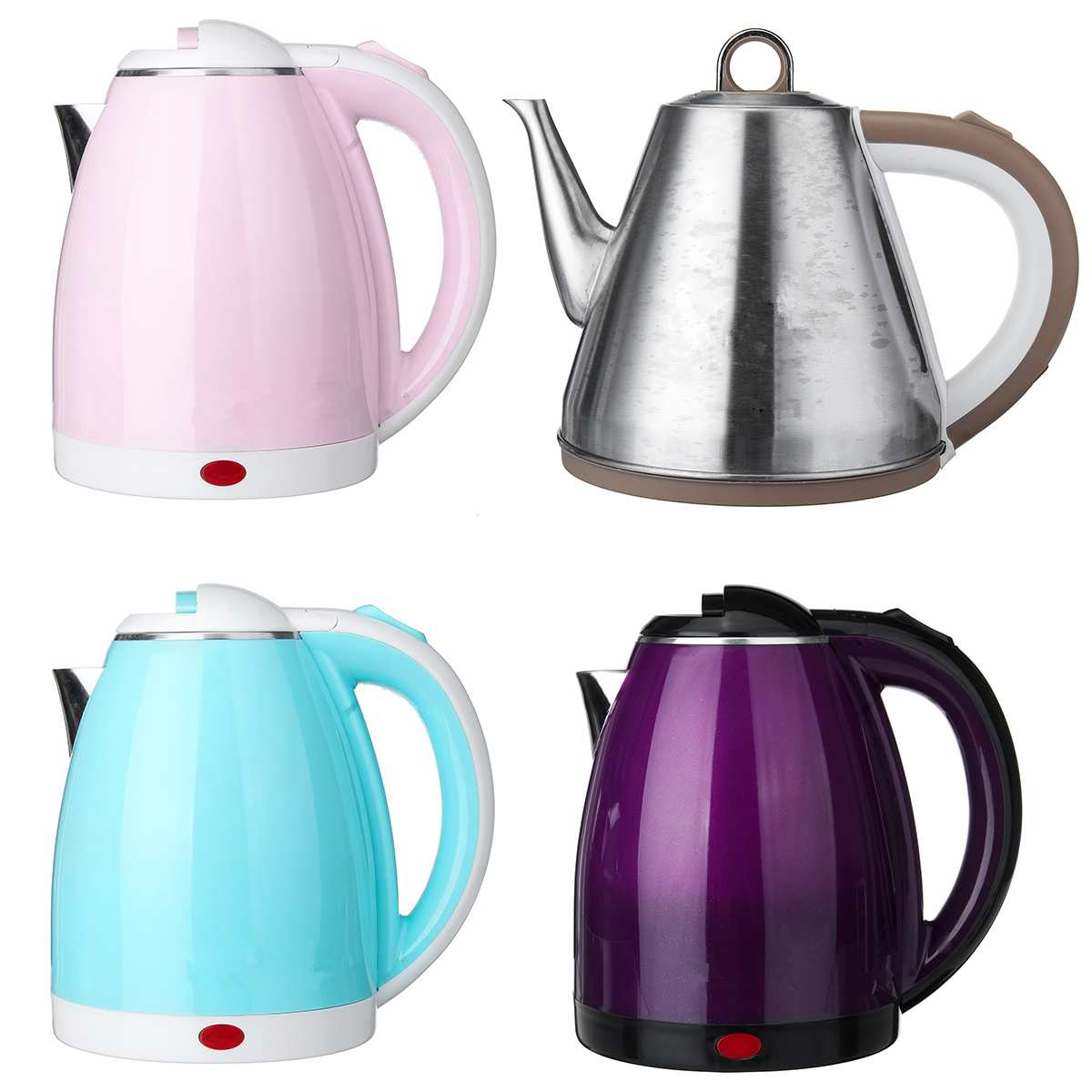 1L Colorful 304 Stainless Steel Electric Kettle 950W Household Cordless 220V Quick Heating Electric Boiling Tea Pot Sonifer