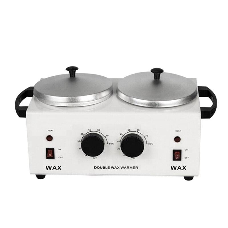 MEIERLI Double Pots épilatoire cire chauffe Machine Paraffine chauffe-cire pour main et pieds SPA épilateur outil d'épilation