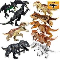 Świat jurajski 2 dinozaury figurki tyranozaur Rex Indominus Rex i-rex Indoraptor klocki zabawki dla dzieci kompatybilny