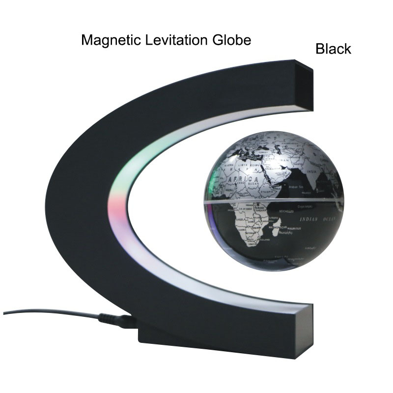 Magnetic Levitation Globe Student School Teaching Equipment With LED World Map Globe Kids Gifts Desktop Culture Education Crafts