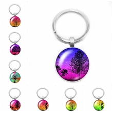 2019 New Hot Handmade Art Tree of Life Clover Leaf Keychain Round Photo Glass Cabochon Love Star