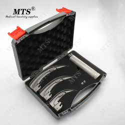 MTS anesthésie laryngoscope acier inoxydable ampoule détachable acier titane adulte 3 + 1 gorge miroir vétérinaire gorge outil de détection