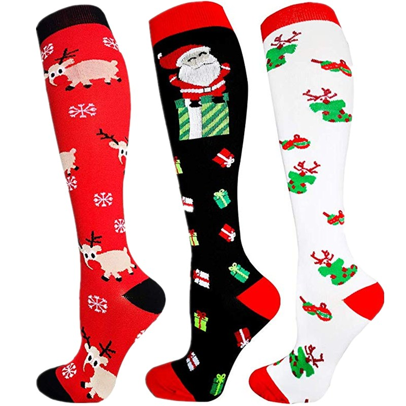 Christmas Socks Women Men Print Comfortable Stripe Cotton Socks Ladies Fashion Short Ankle Sock Male Cotton Winter Warm Socks
