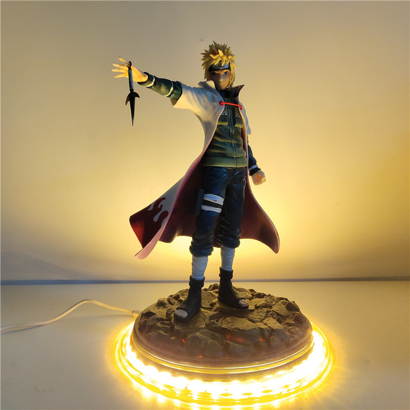 Naruto Figurine Namikaze Minato DIY LED Table Lamp For Bedroom Home Decoration Shippuden Namikaze Minato LED Light Toys Gifts