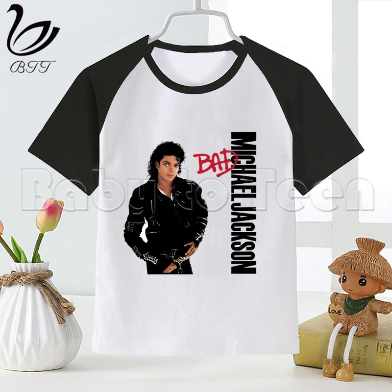 Michael Jackson Boys T Shirt Summer Children T-Shirt For Boy Baby Girls Tops Kids Tshirt Cartoon Tee Shirts Clothes