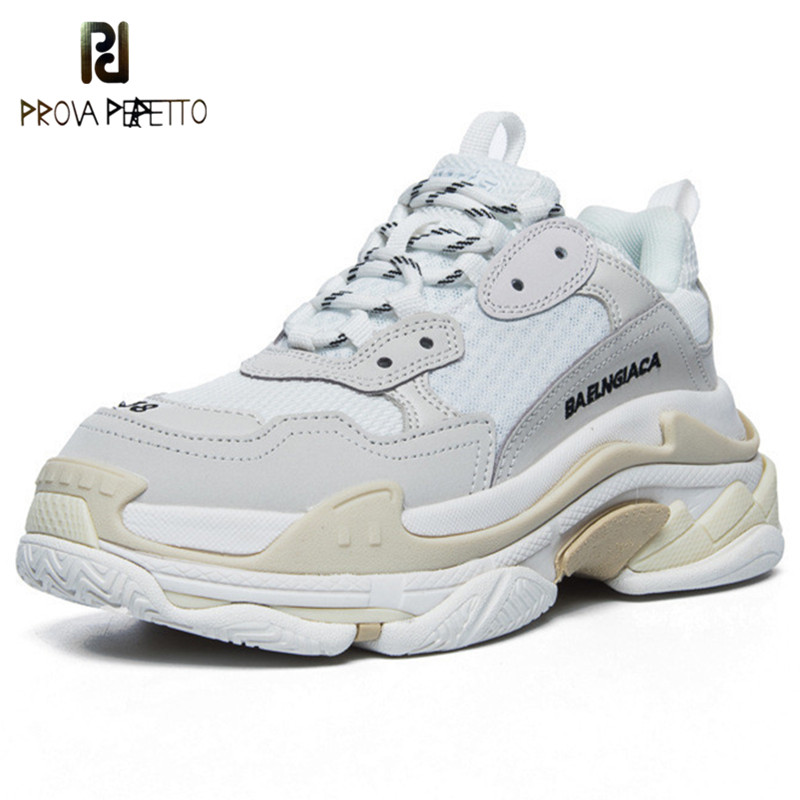 White Shoes Celebrity Chunky Sneakers Women Trendy Dad Sneakers Mesh Platform Shoes Woman Vulcanize Shoes Zapatillas Mujer