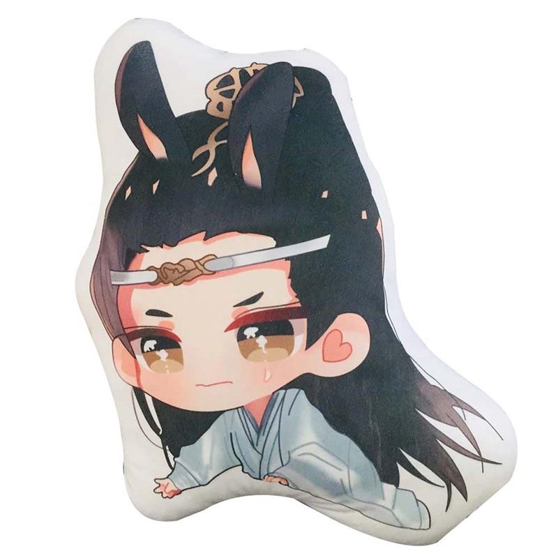 New 45cm Mo Dao Zu Shi Cartoon Figure Pillow Wei Wuxian LanWangji Doll Bolster Pillow Anime Around