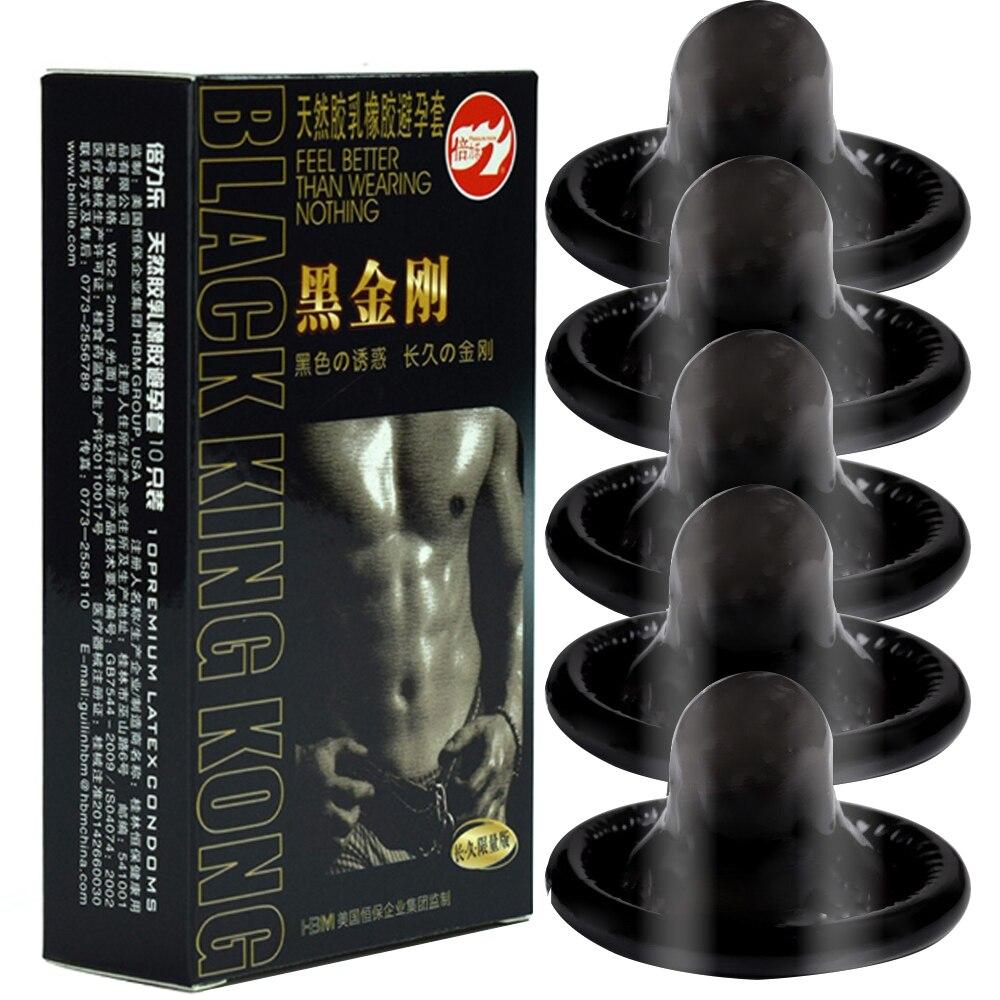 10PCs Condom Sex Toys For Men Black Man Penis Sleeve Ejaculation Delay Lasting Erotic Adult Long Lasting Golden Body Condoms