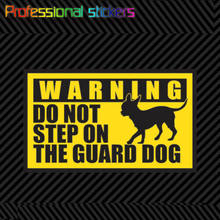 Chihuahua Do Not Step on The Guard Dog Sticker Premium Die Cut Vinyl Pet Little Sticker for Car Windows, Laptops,office Supplies
