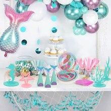 Nouveau 8 pièces/ensemble Petite Sirène Ballons 32 pouces Numéro Coloré Ballon 0 1 2 3 4 5 6 7 8 9st Heureux Fête D'anniversaire Ballon Décoration