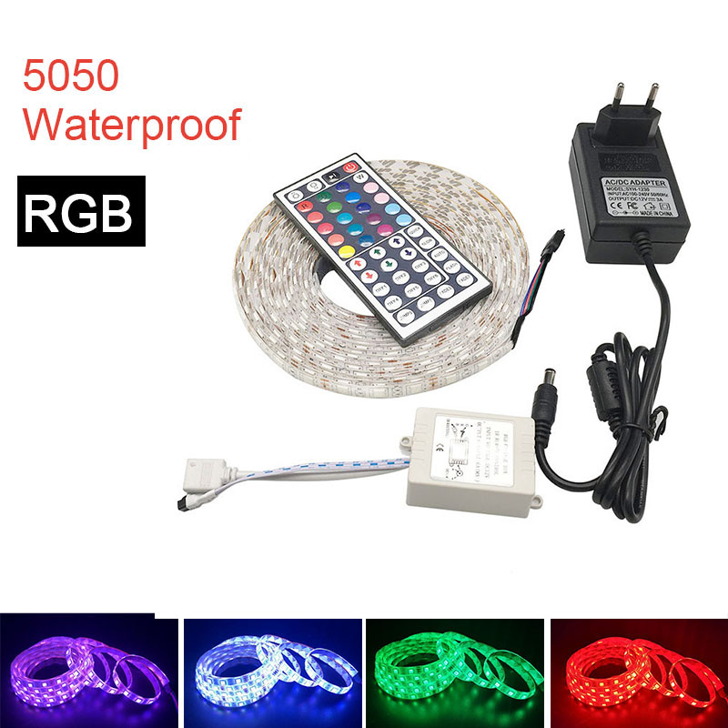 LED Strip Light 5050 SMD DC12V 60LEDs/m 5m/Roll Flexible LED Light RGB 5050 LED Strip Waterproof Or Not-Waterproof Tape Fita