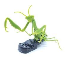Insetos controle remoto rc infravermelho, insetos mantis, brinquedos assustadores, novidade engraçada, presente de natal