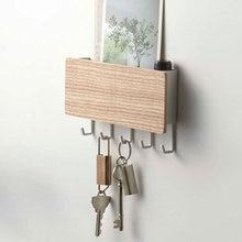 Wieszak na klucze dekoracyjny prosty mały hak ścienny oszczędność miejsca łatwa instalacja strona główna Vintage drewniane drzwi przechowywanie z tyłu Rack