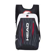 adults head tennis racket bag bagpack breathable sports backpack for 1 2 pcs rackets racquete with shoes bag double shoulder Original HEAD Tennis Backpack Limited For 2 Tennis Rackets With Shoes Compartment Bag Endorsed by Novak Djokovi Professional