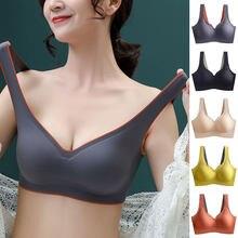 Mode Plus Size Beha Latex Naadloze Bras Voor Vrouwen Push Up Ondergoed Bralette Top Bh Comfort Cooling Verzamelt Schokbestendig Pad