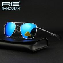 RANDOLPH Sunglasses American Military Army Aviation Pilot RE Glass lens Men Woman Brand Original Box Top Quality
